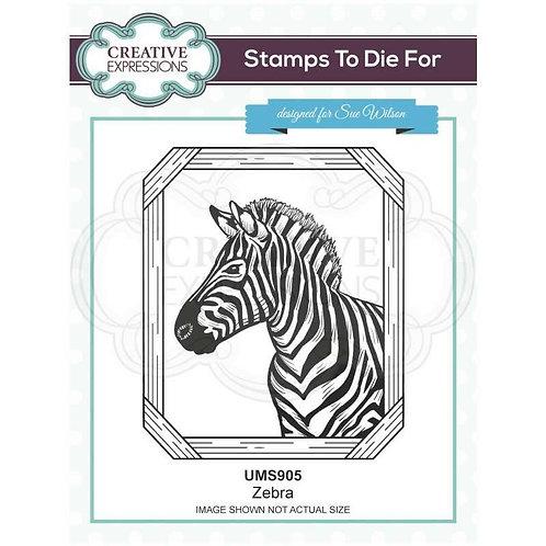 Zebra Pre Cut Stamp by Creative Expressions