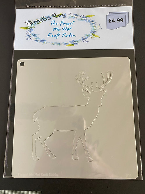 Standing Stag Stencil By FMN