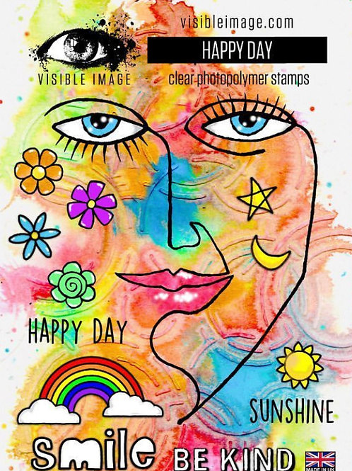 Happy Day Stamp - Visible Image