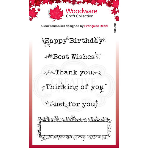 Boxed Greetings Stamp Set by WoodWare