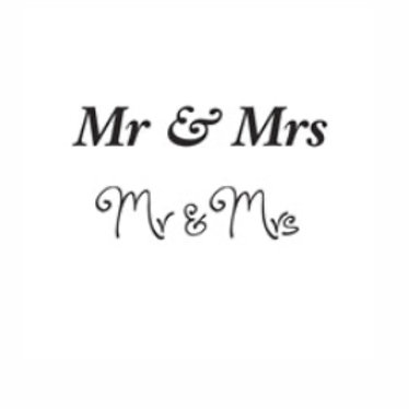 Mr & Mrs Word Stamp by Woodware