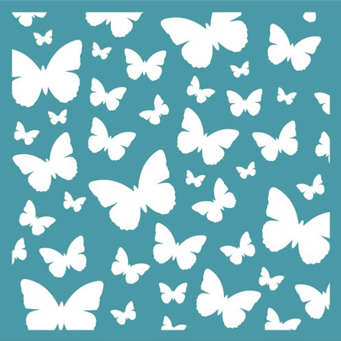 Butterfly Background stencil by Funky Fossil