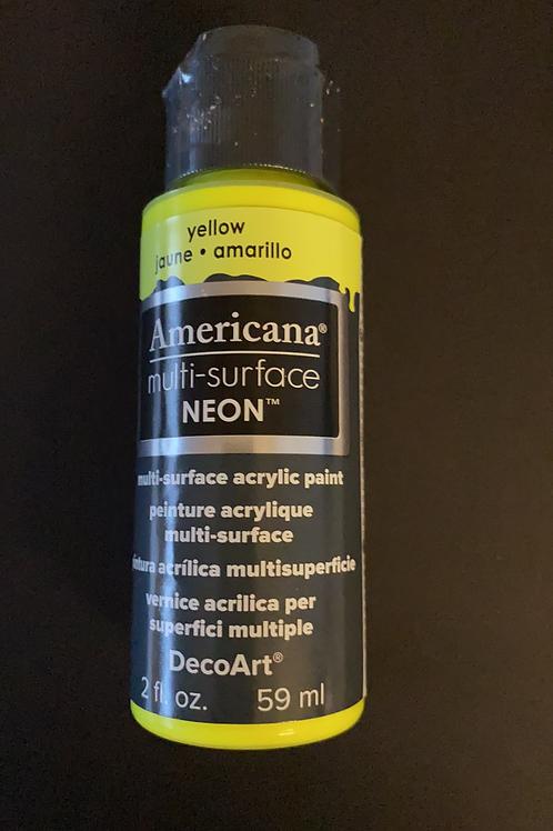 Neon Yellow DecoArt Multi-Surface Paint