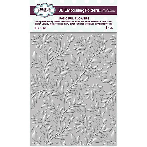 Fanciful Flowers Embossing Folder by Creative Expressions