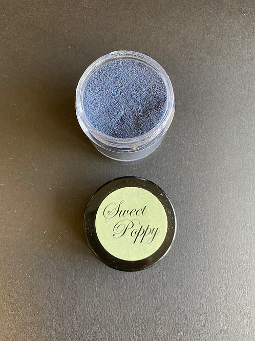 SWEET POPPY SUPER FINE GLITTER - BLACK TURQUOISE