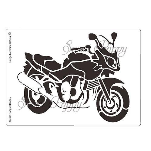SWEET POPPY STENCIL - MOTORBIKE