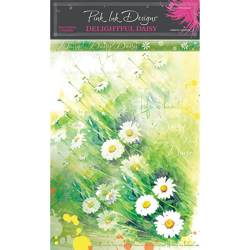 Pink Ink Designs Delightful Daisy A4 Rice Papers