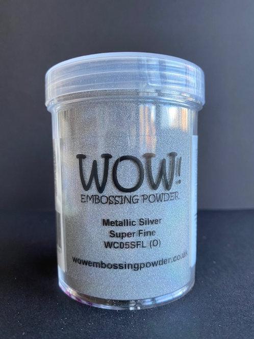 Large Embossing Powder - Metallic Silver Super Fine