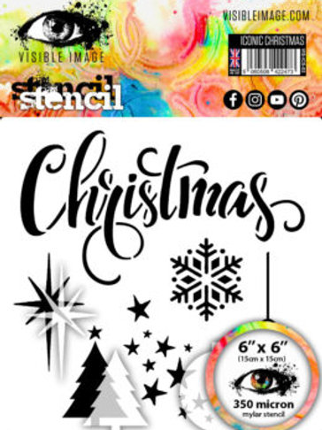 Iconic Christmas Stencil - Visible Image