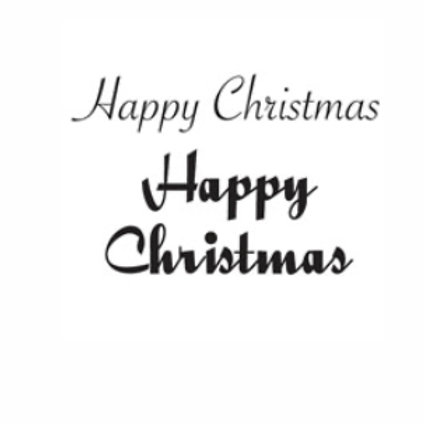 Happy Christmas Word Stamp by Woodware