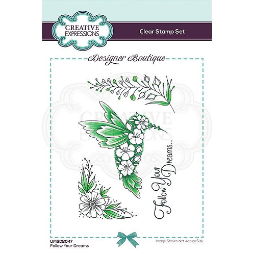 Follow Your Dreams A6 Clear Stamp by Creative Expressions