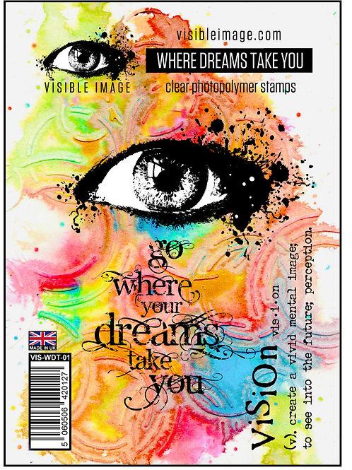 Where Dreams Take You Stamp - Visible Image