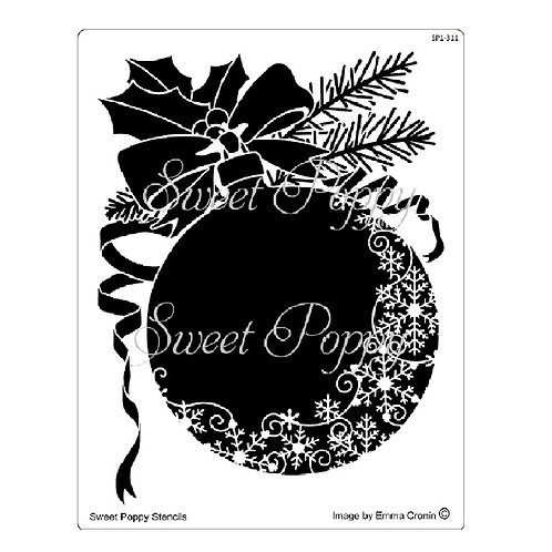 Christmas Snowflake Bauble by Sweet Poppy