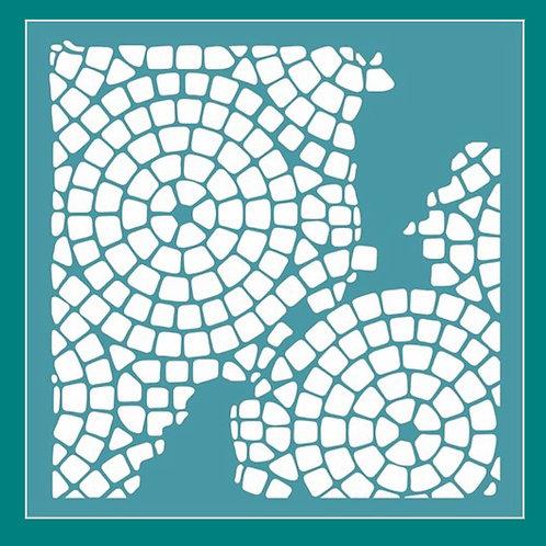 Broken Mosaic Stencil by Funky Fossil