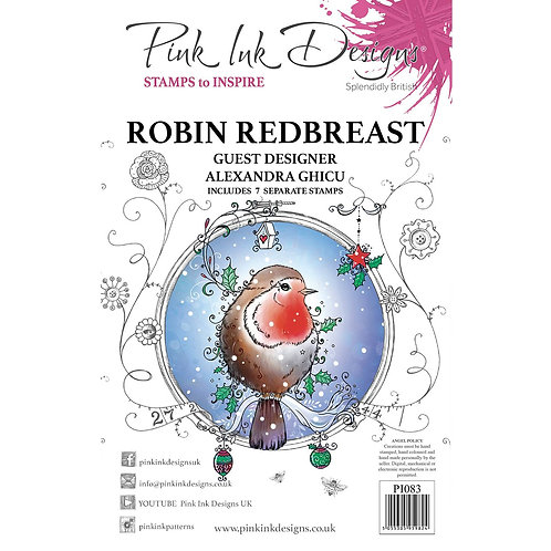 Robin Red Breast Stamp by Pink Ink