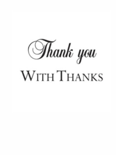 Thank You Word Stamp by Woodware