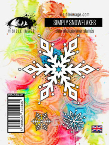Simply Snowflakes Stamp - Visible Image
