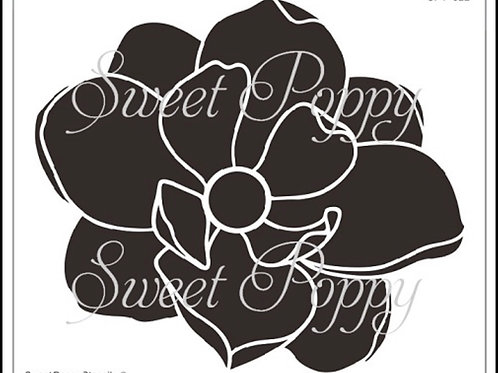 Sweet Poppy Stencil Large Blossom