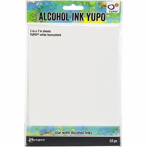 "ALCOHOL INK YUPO 5X7"" WHITE HEAVY SHEETS 10PK"