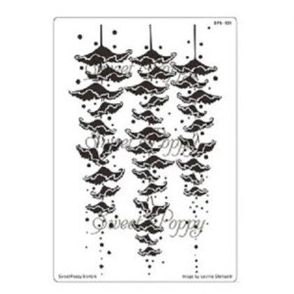 Fairy Bells Back Plate Stencil by Sweet Poppy