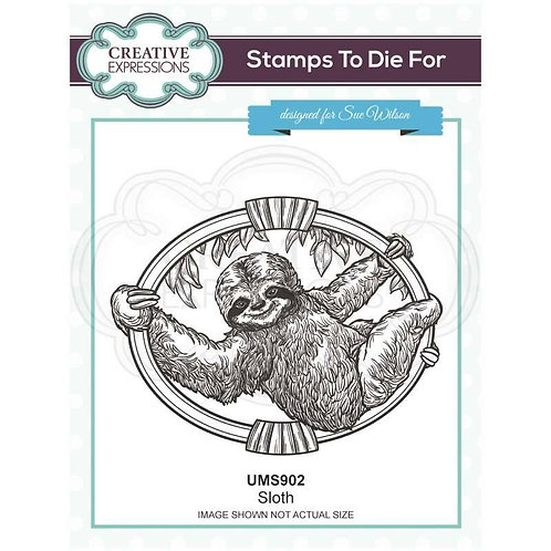 Sloth Pre Cut Stamp by Creative Expressions
