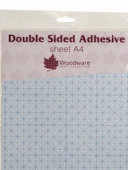 WOODWARE DOUBLE SIDED A4 ADHESIVE SHEETS