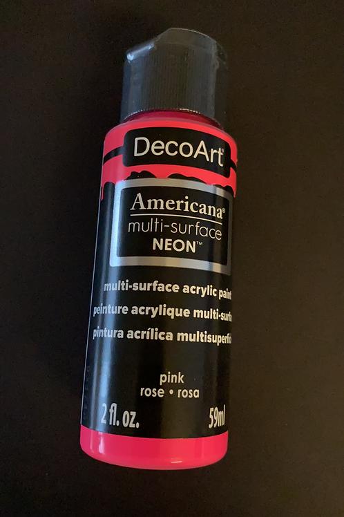Neon Pink DecoArt Multi-Surface Paint