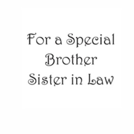 For A Special Brother & Sister In Law Word Stamp by Woodware