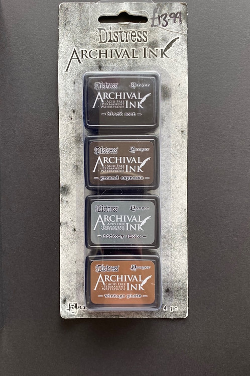 DISTRESS ARCHIVAL QUAD MINI INK PADS