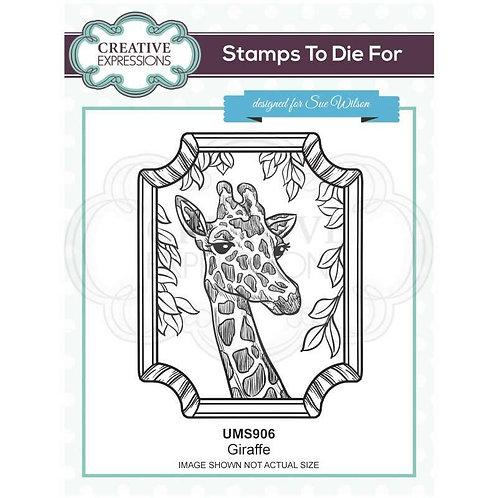 Giraffe Pre Cut Stamp by Sue Wilson