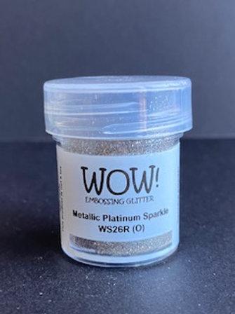 Embossing Powder - Metallic Platinum Sparkle