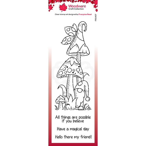 Magical Mushrooms Stamp Set by Woodware