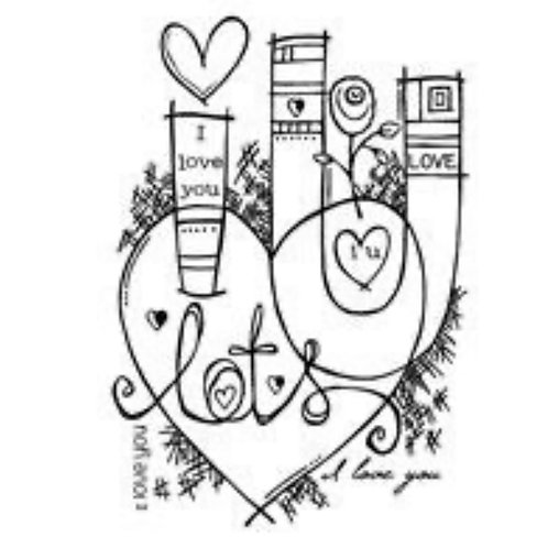 Graffiti Love Stamp by Woodware