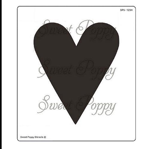 Sweet Poppy Stencil Aperture Slim Heart