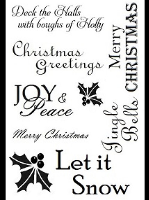A6 STAMP JOY AND PEACE