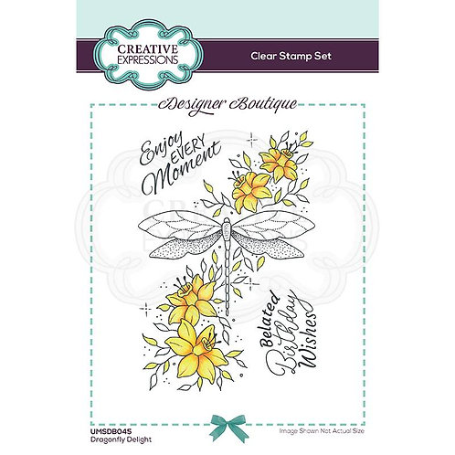 Dragonfly Delights A6 Clear Stamp by Creative Expressions