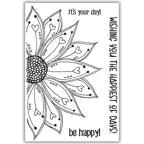 JULIE HICKEY BE HAPPY STAMP SET