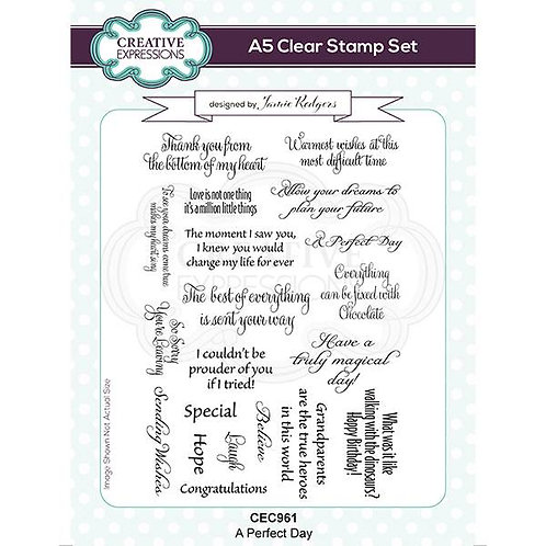 A Perfect Day A6 Clear Stamp Set by Creative Expressions