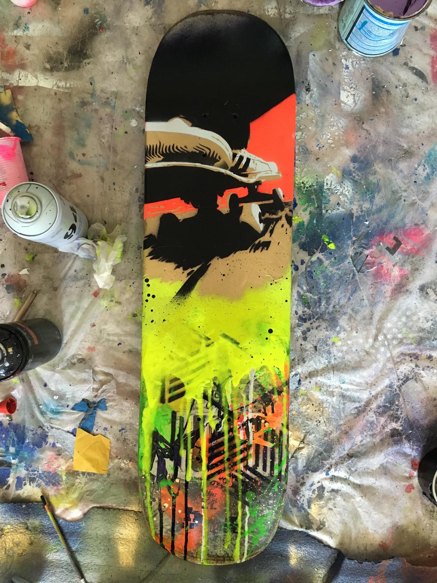 skate custom pinkartroz