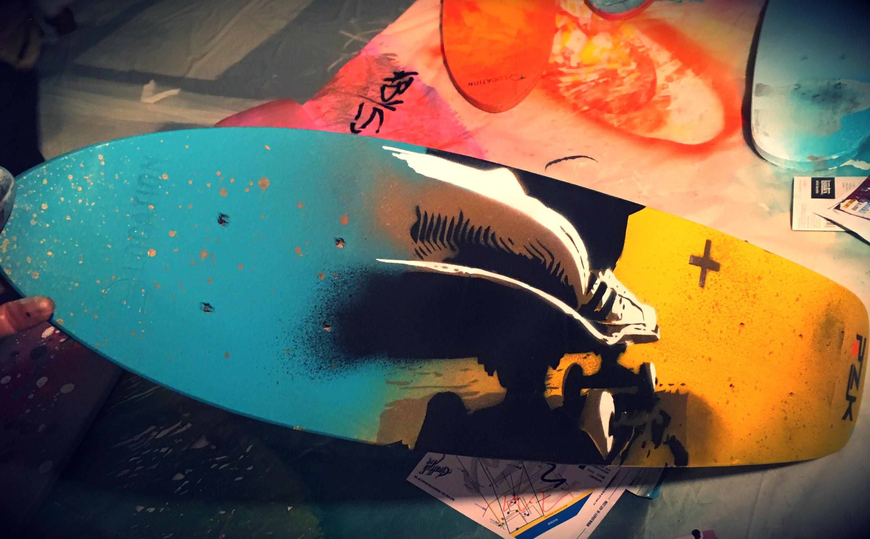 PLANCHE SKATE GRAFF IK ART PINKARTROZ 2