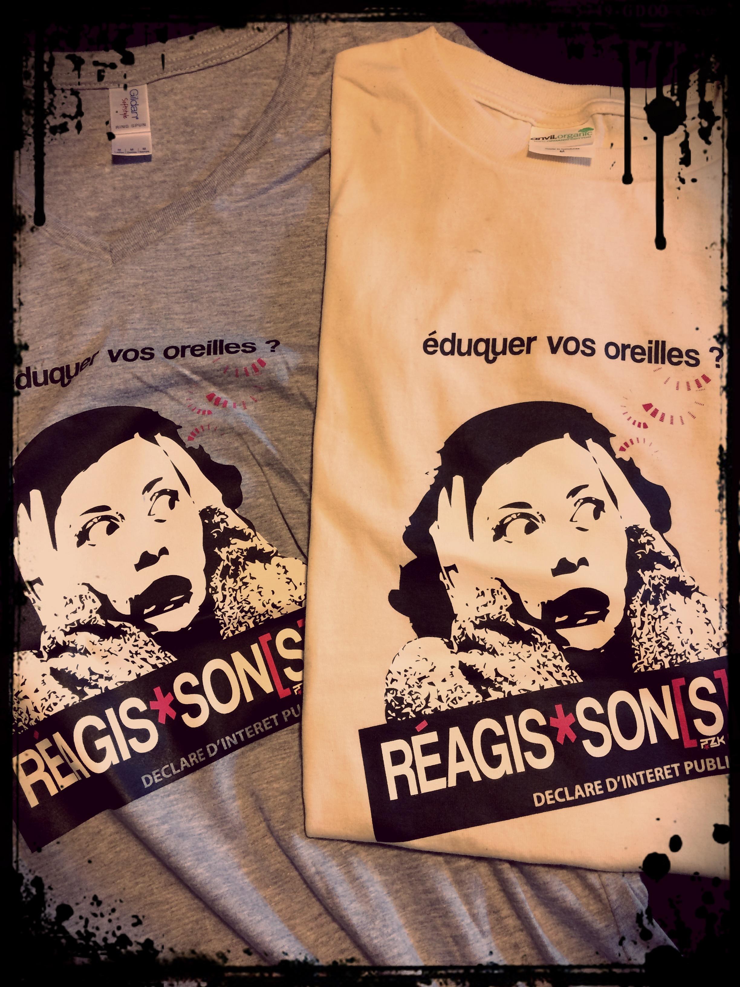 Tee-shirt Réagis-son[s]