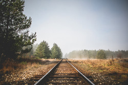 podzim železnice