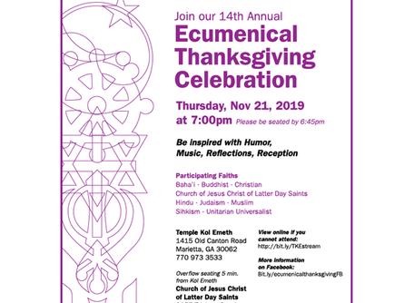 Ecumenical Thanksgiving Celebration