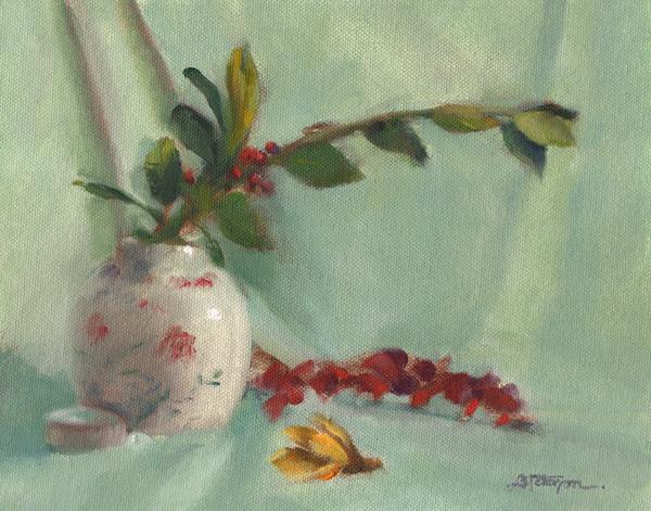 Vase w-Eucalyptus