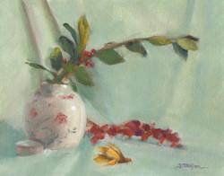 Vase with Eucalyptus
