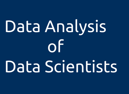Data Analysis of Data Scientists