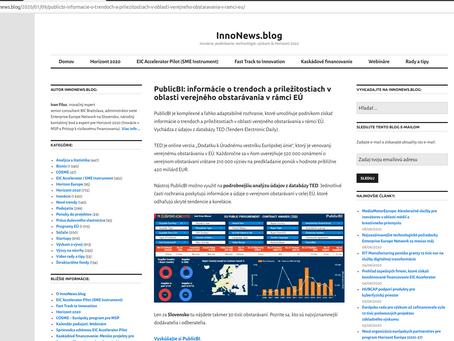 PublicBI EUProc in Slovakian Website
