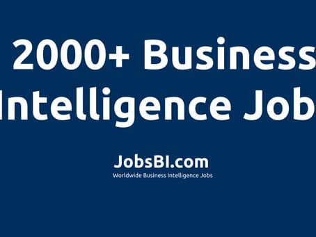 2000+ BI Jobs on JobsBI.com