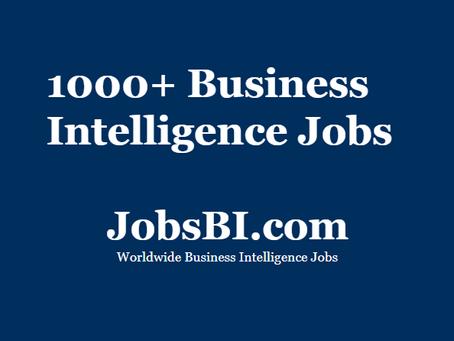 Over 1000 BI jobs posted in JobsBI.com