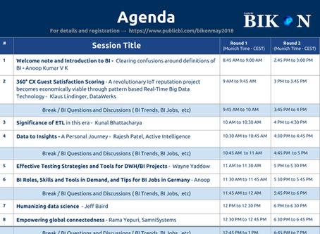 PublicBI BIKON (International Business Intelligence Conference) on 3rd May, 2018